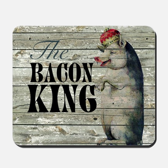 funny pig bacon king Mousepad