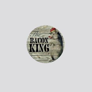 funny pig bacon king Mini Button