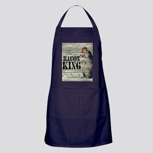 funny pig bacon king Apron (dark)