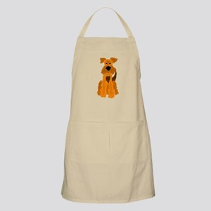 Funny Airedale Terrier Dog Apron