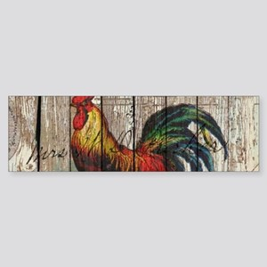 rustic farm country rooster Bumper Sticker