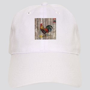 rustic farm country rooster Cap