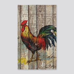 rustic farm country rooster Area Rug