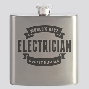 Worlds Best And Most Humble Electrician Flask