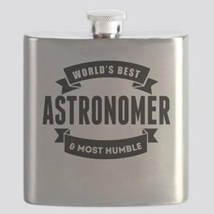 Worlds Best And Most Humble Astronomer Flask