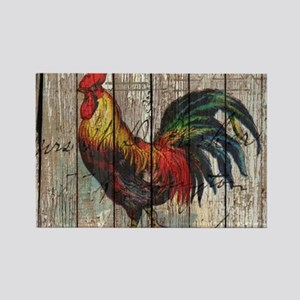 rustic farm country rooster Magnets