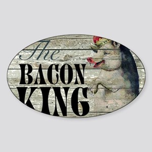 funny pig bacon king Sticker