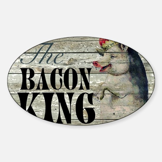 funny pig bacon king Decal