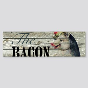 funny pig bacon king Bumper Sticker