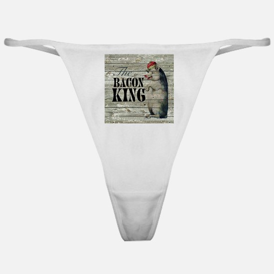 funny pig bacon king Classic Thong