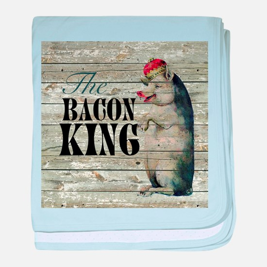 funny pig bacon king baby blanket