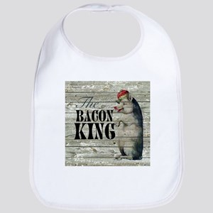funny pig bacon king Bib