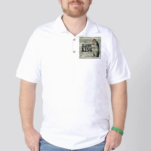 funny pig bacon king Golf Shirt