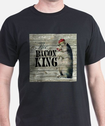 funny pig bacon king T-Shirt