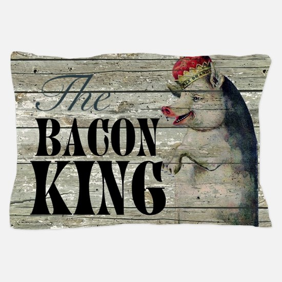 funny pig bacon king Pillow Case