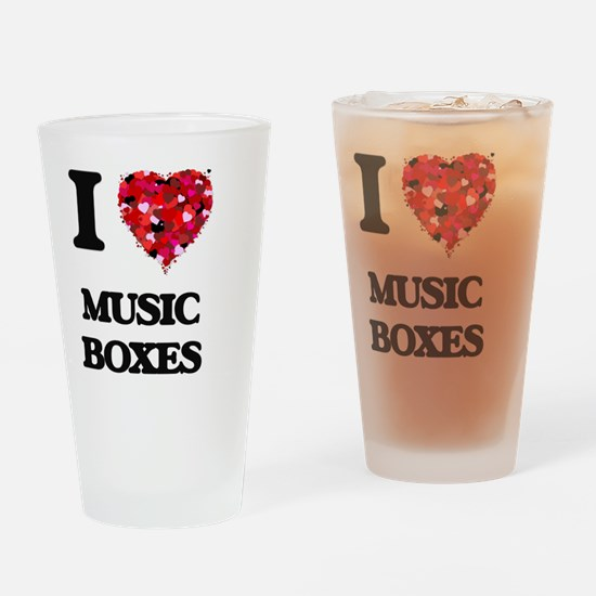 I Love Music Boxes Drinking Glass