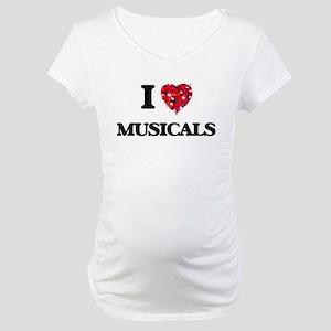 I Love Musicals Maternity T-Shirt