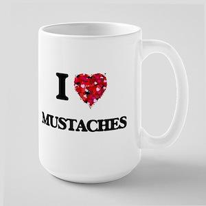 I Love Mustaches Mugs