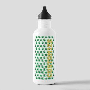 Customized Pot Leaf Pattern Water Bottle