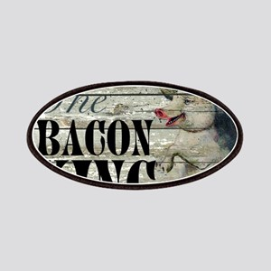 funny pig bacon king Patch