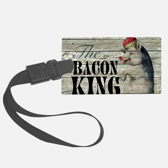 funny pig bacon king Luggage Tag