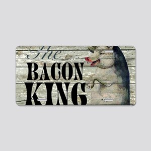 funny pig bacon king Aluminum License Plate
