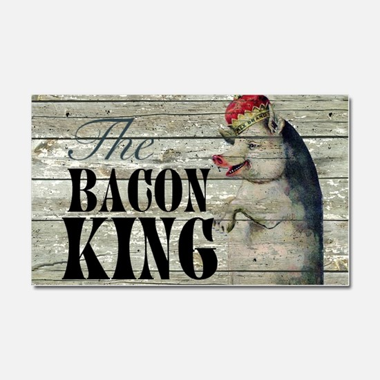 funny pig bacon king Car Magnet 20 x 12