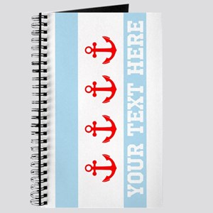 Personalized Nautical Chicago Flag Journal