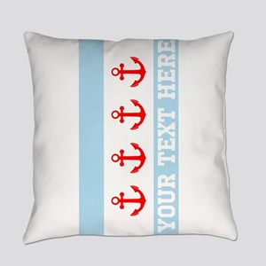 Personalized Nautical Chicago Flag Everyday Pillow