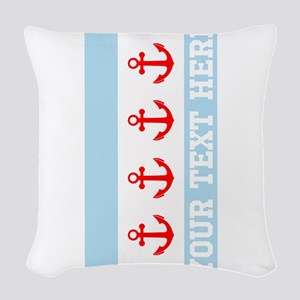 Personalized Nautical Chicago Flag Woven Throw Pil