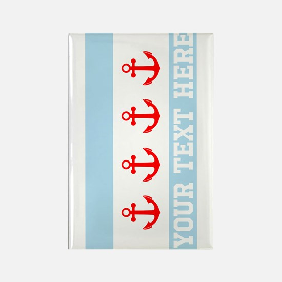 Personalized Nautical Chicago Flag Magnets