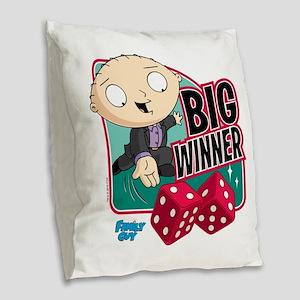 Family Guy Big Winner Burlap Throw Pillow
