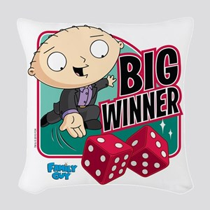 Family Guy Big Winner Woven Throw Pillow