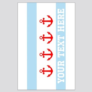 Personalized Nautical Chicago Flag Posters