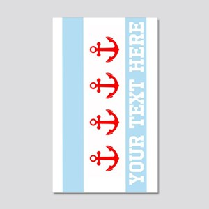 Personalized Nautical Chicago Flag Wall Decal