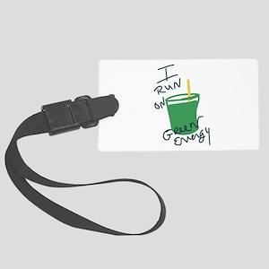 I run on Green Energy Luggage Tag