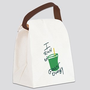 I run on Green Energy Canvas Lunch Bag