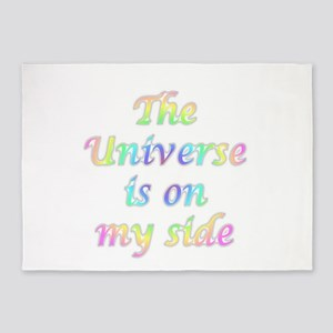 the universe is on my side 5'x7'Area Rug