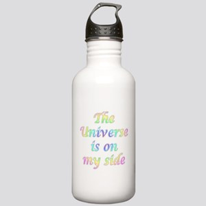 the universe is on my side Water Bottle