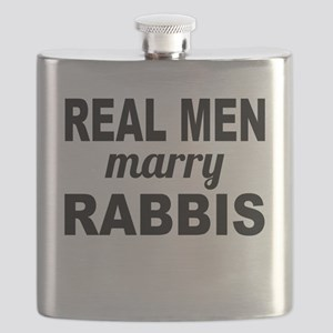 Real Men Marry Rabbis Flask