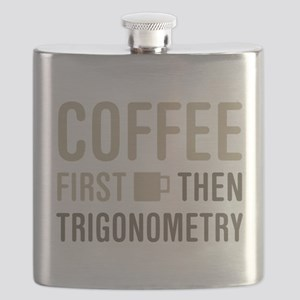 Coffee Then Trigonometry Flask