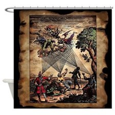 Medieval Spirit Minstrels Shower Curtain