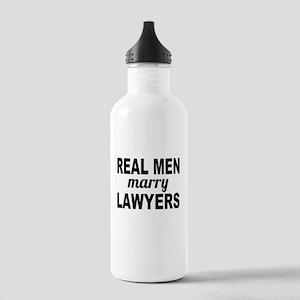 Real Men Marry Lawyers Water Bottle