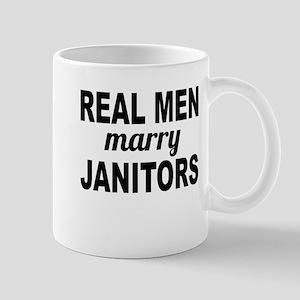 Real Men Marry Janitors Mugs