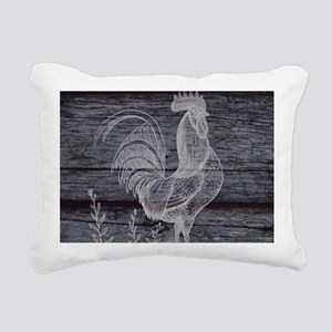 rustic farm country roos Rectangular Canvas Pillow