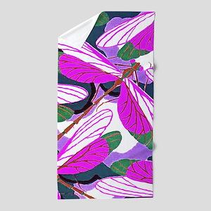 Amethyst Wings Beach Towel