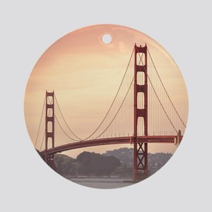 Beautiful Golden Gate Bridge Round Ornament
