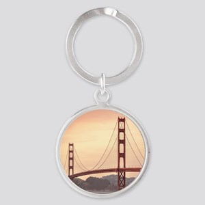 Beautiful Golden Gate Bridge Round Keychain