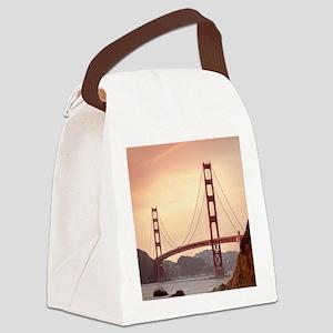 Beautiful Golden Gate Bridge Canvas Lunch Bag