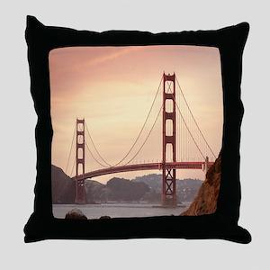 Beautiful Golden Gate Bridge Throw Pillow